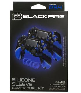 Silicone Sleeve Gamer Dual Kit Blackfire Ps4
