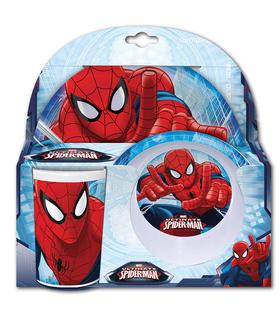 set-desayuno-spiderman-marvel-melamina