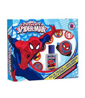 set-colonia-reloj-lanzadiscos-spiderman-marvel