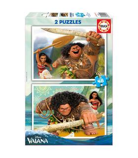 puzzle-vaiana-disney-2x48pz