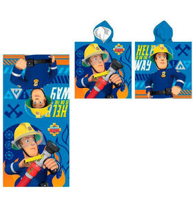 poncho-toalla-sam-el-bombero-help-is-on-the-way-microfibra