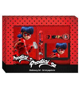 set-papeleria-billetera-reloj-prodigiosa-ladybug-caja-lentic